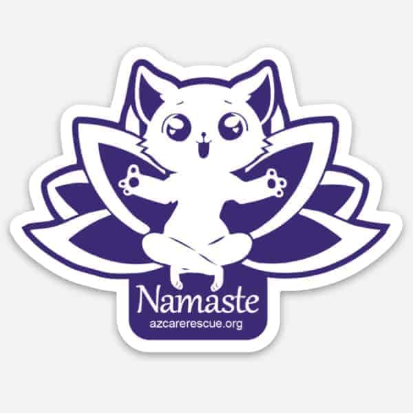 Namaste Kitty Sticker
